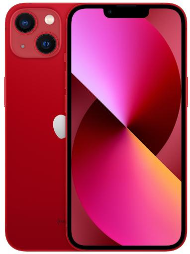 iPhone 13 в красном корпусе