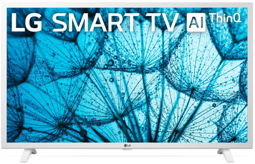 Телевизор с корпусом белого цвета
