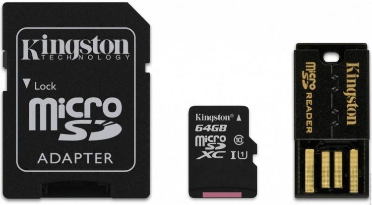 Карта памяти MicroSD и адаптеры от Кингстон