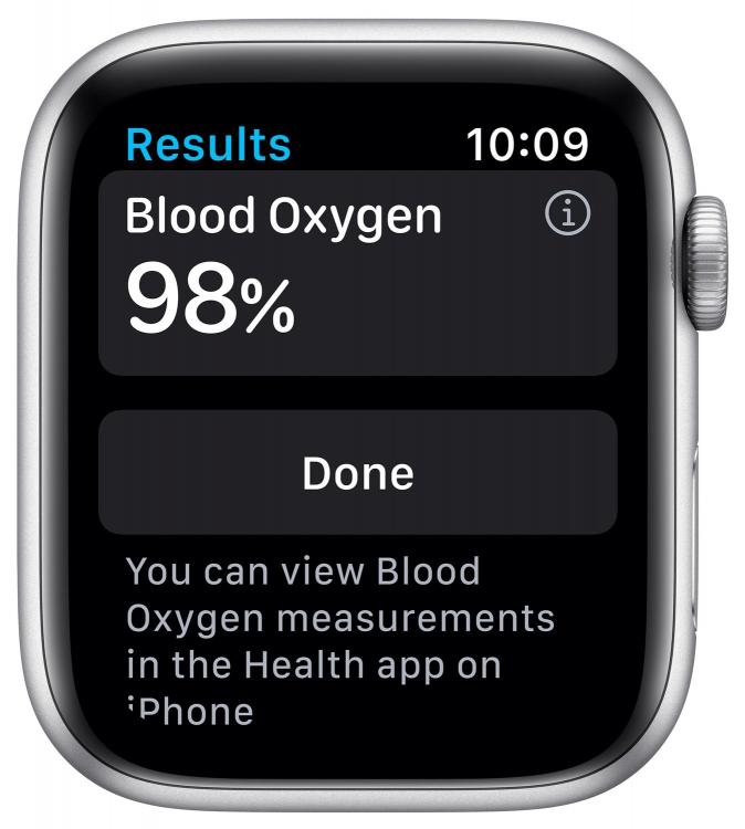 Программа «Кислород в крови» на Apple Watch 6