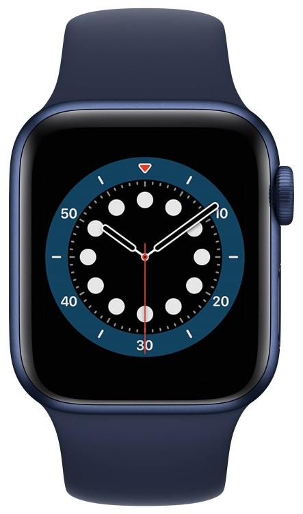 Apple Watch 6 в синем корпусе