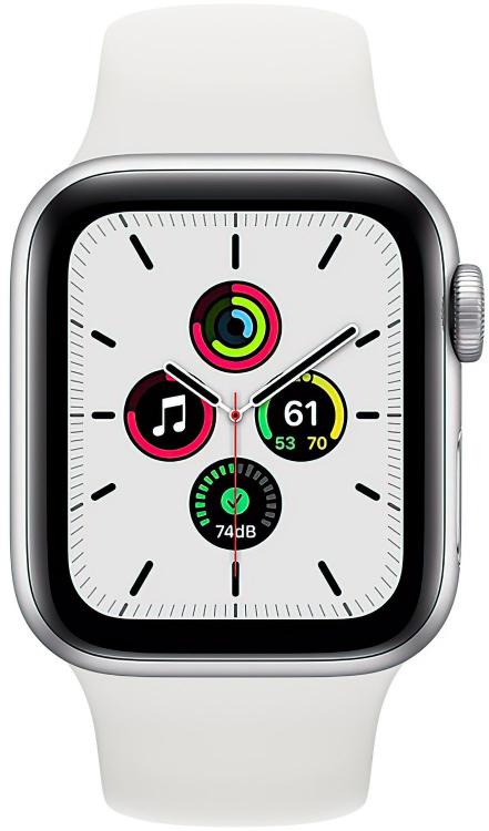 Apple Watch SE в серебристом корпусе