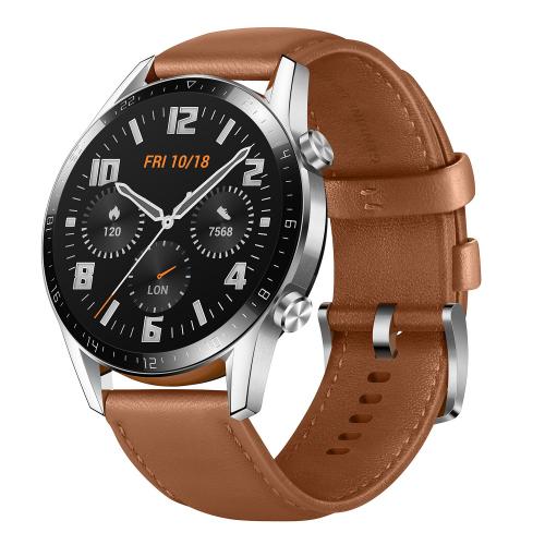 Смарт-часы Huawei с кожаным ремешком