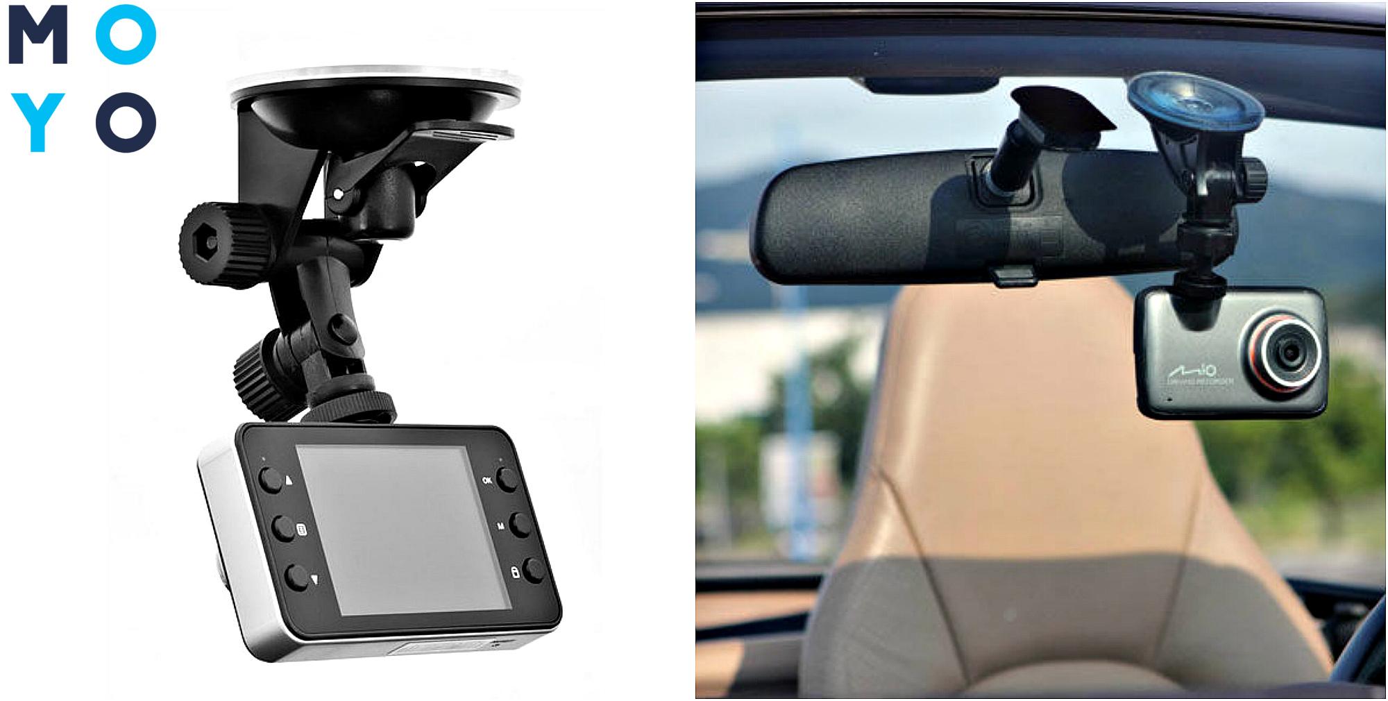Крепление автомобильного видеорегистратора