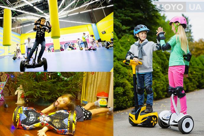 Катание на гироскутере и гироборде — отличный способ досуга для детей