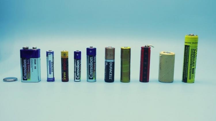 Батарейки разных типов