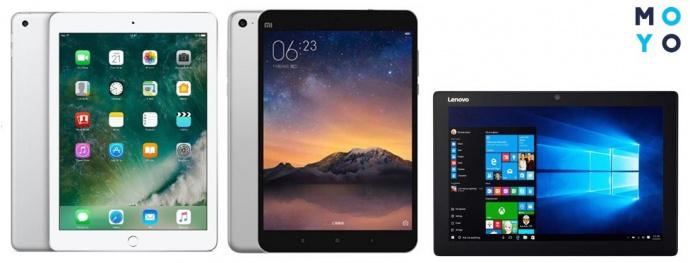 iPad, планшет на Android и Windows