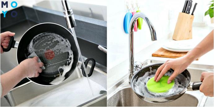 Уход за сковородой с антипригарным покрытием