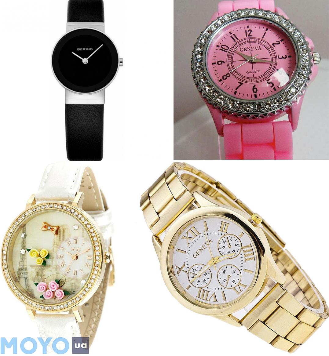 Выбор цвета наручных женских часов