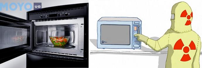 Микроволновая печь и человек