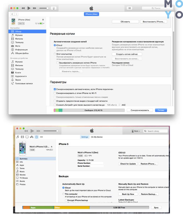 Скрин-инструкция в iTunes
