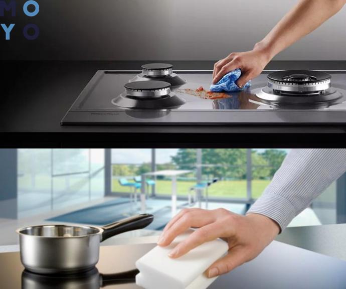 мытье плиты из нержавеющей стали