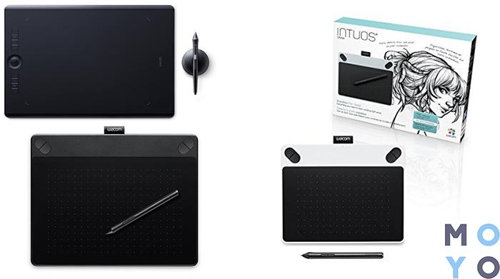 планшеты One by Wacom medium, Wacom Intuos Draw, Wacom Intuos 3d