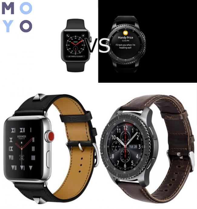 Альт: Samsung Gear S3 и Apple Watch Series 3