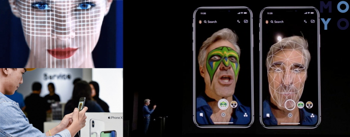 Сканер iPhone X создает модель лица