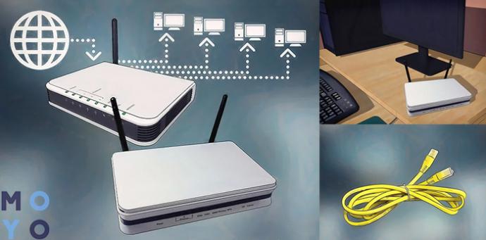 необходимое оборудование: 2 роутера, ПК и LAN