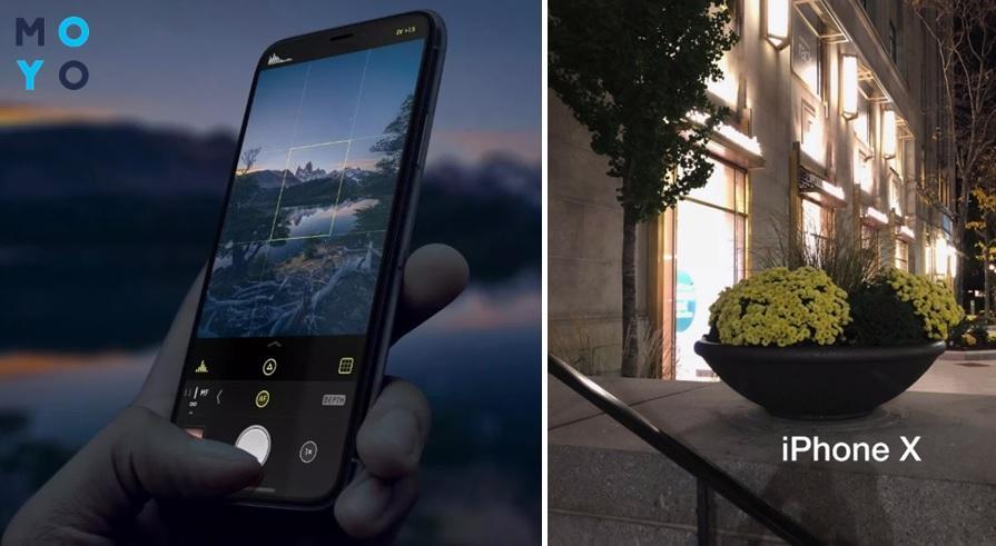 Съемка в темноте на Apple iPhone X