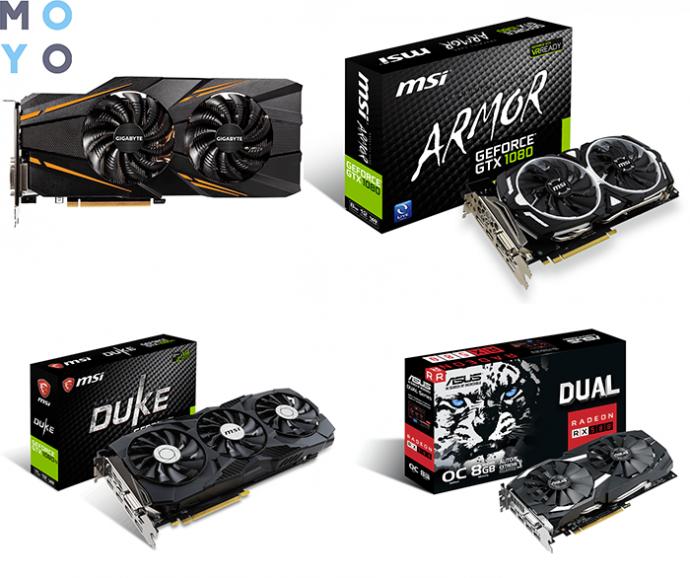 топовые видеокарты для топового игрового ПК — GTX 1070, GTX 1080/1080 TI, RADEON RX 580
