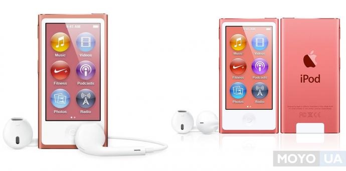 iPod NANO — компактный, легкий с удобным управлением и функциями фитнес-трекера