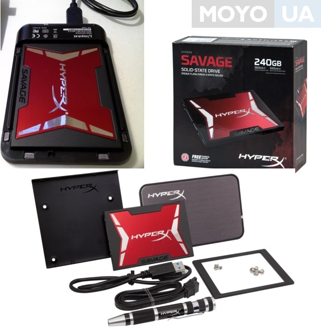 SSD-накопитель HyperX Savage 240 GB SATA