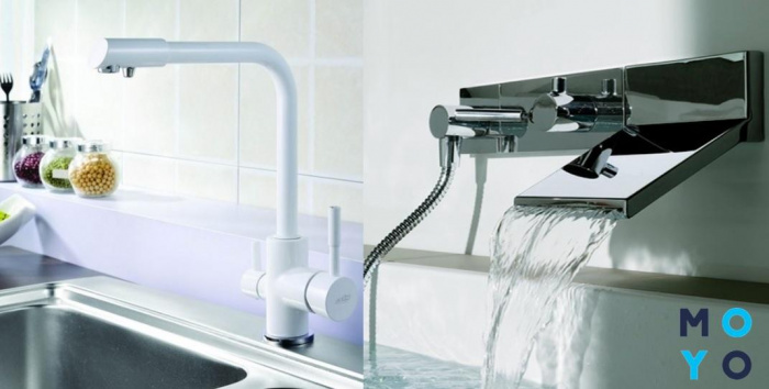 В чем разница между смесителем для кухни и ванны?