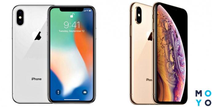Внешний вид iPhone X и iPhone XS