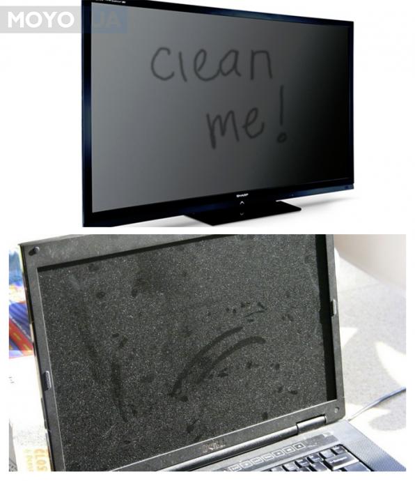 монитор пора почистить