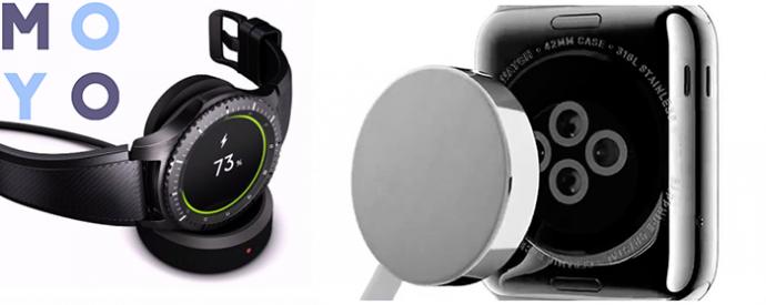 зарядные устройства часов Samsung и Apple