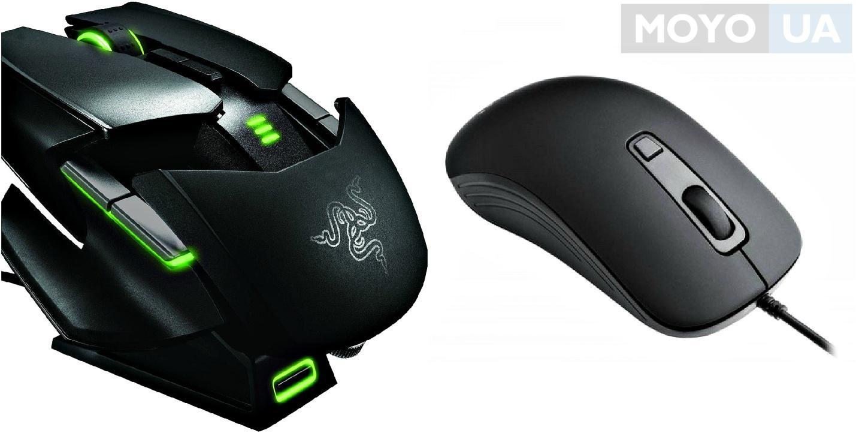 Внешний вид офисной и игровой мышки