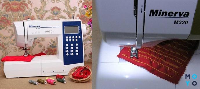 Полностью электронная швейная машинка Minerva