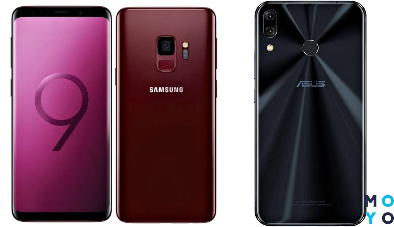 Камерофоны Samsung S9 и Asus ZenFone 5Z