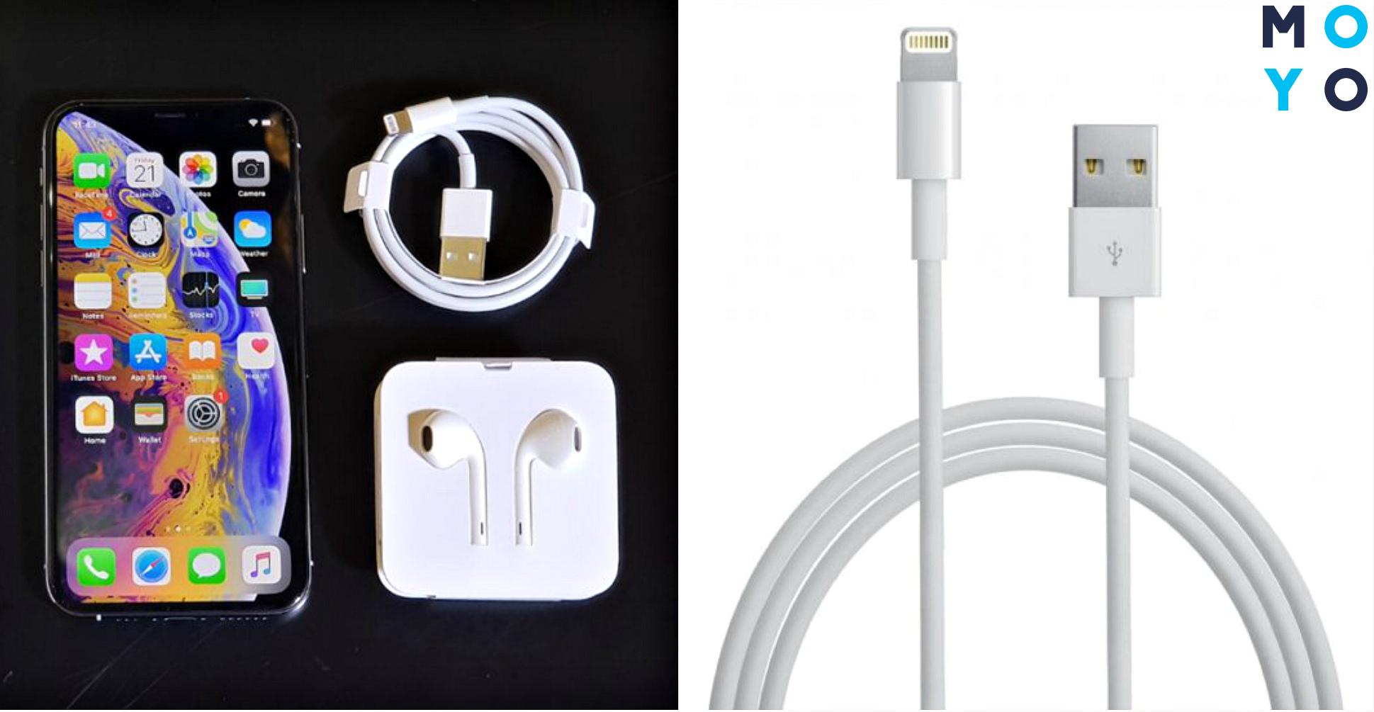 Айфон и USB кабель