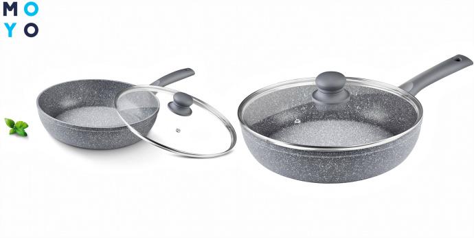 Сковородки с мраморным антипригарным покрытием