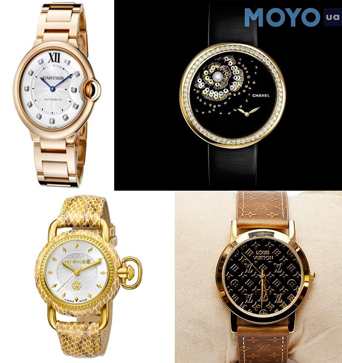 Женские часы Chanel, Cartier, Louis Vuitton, Roberto Cavalli