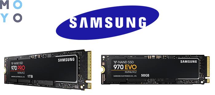 Твердотельные накопители SAMSUNG 970 PRO и 970 EVO
