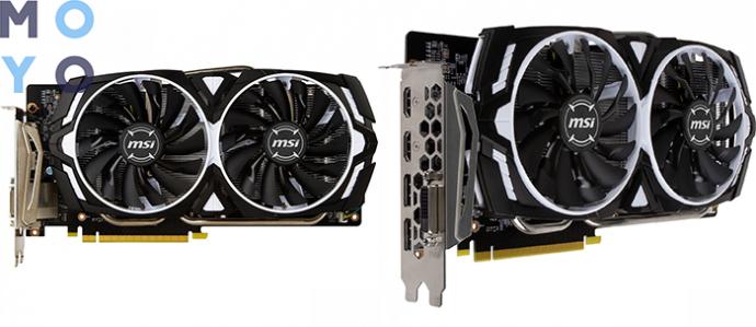 видеокарта MSI GeForce GTX 1060 6GB с активным охлаждением