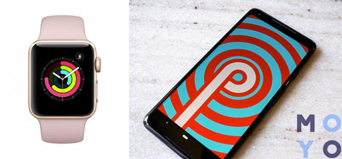 часы Apple и Андроид
