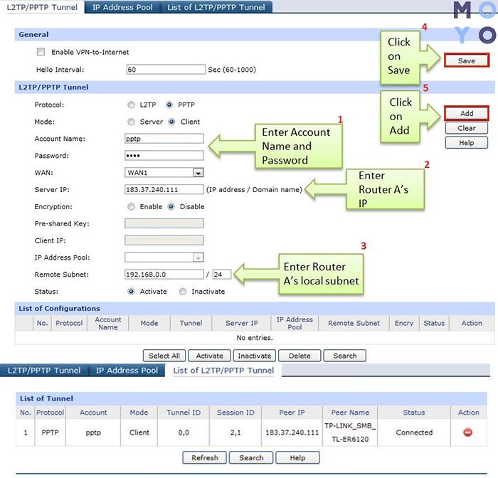 Настройка PPTP-клиента на маршрутизаторе TP-LINK