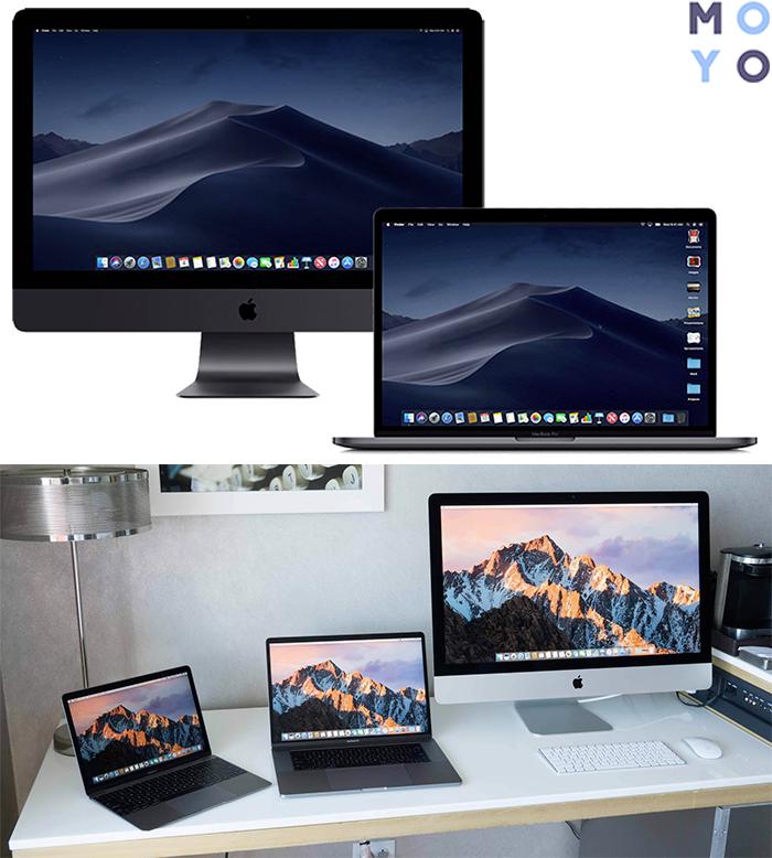Моноблоки и ноутбуки Apple
