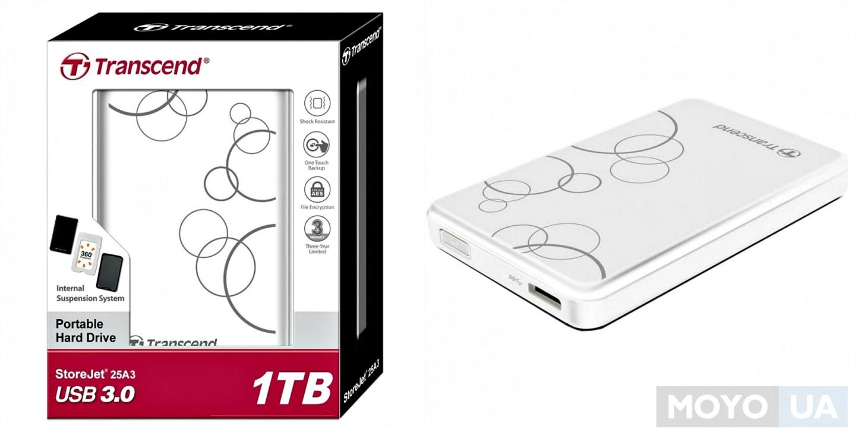 """Внешний жесткий диск TRANSCEND 2.5"""" USB 3.0 серия A3, 1TB"""