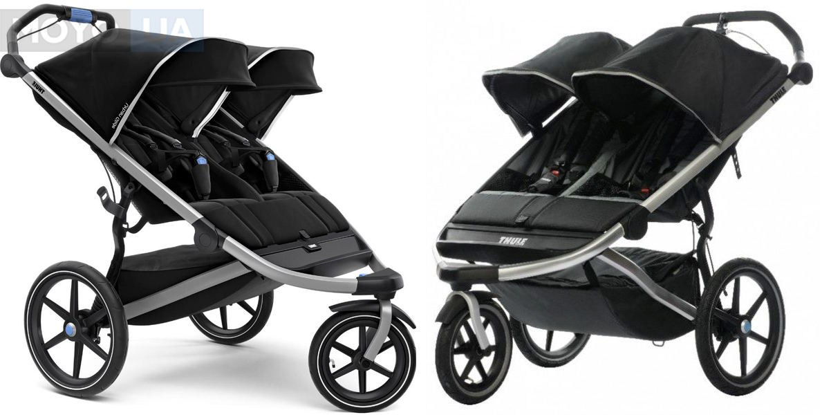 Трёхколесная коляска для двойняшек Thule Urban Glide2