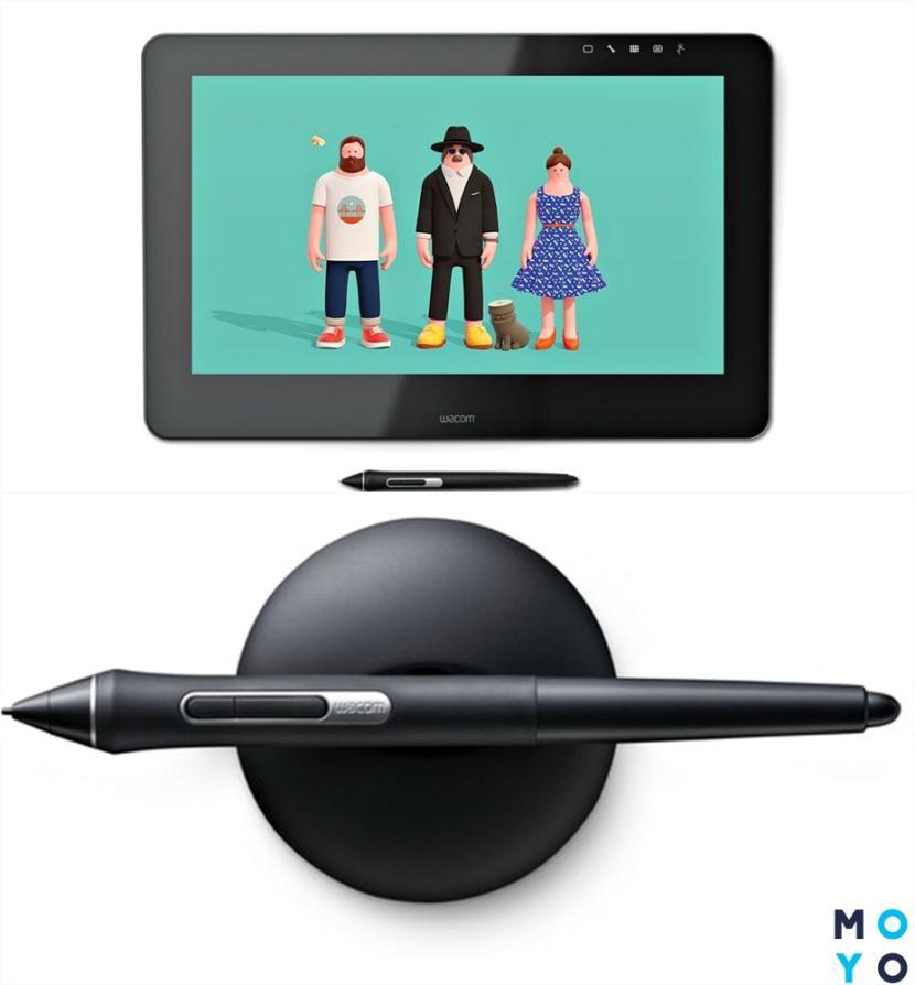 Графический планшет и перо Wacom Cintiq Pro touch