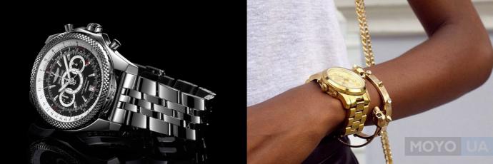 Наручные часы с металлическим браслетом