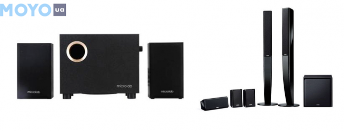 активный (M-105) и пассивный (NS-PA40) комплекты