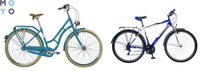 Разные виды городских велосипедов