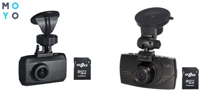 Автомобильные видеорегистраторы с держателями от Gazer