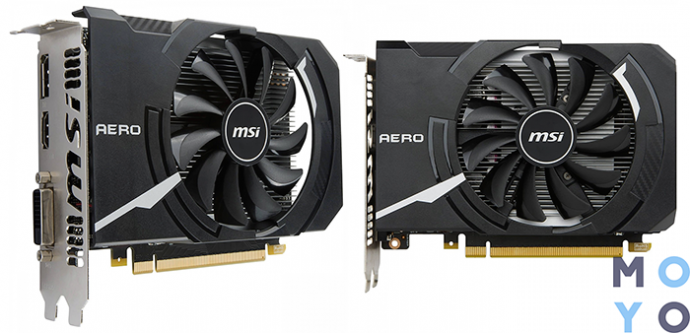 MSI GeForce GTX 1050TI 4GB DDR5 Aero ITX OC
