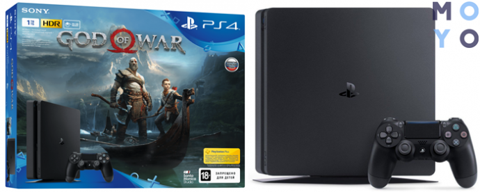 PlayStation 4 Slim 1Tb Black (God of War)