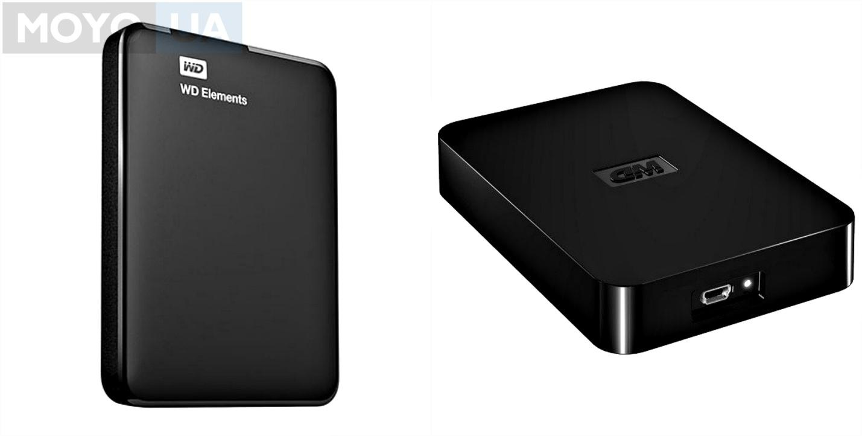 """Внешний жесткий диск WD 2.5"""" USB3.0 Elements 1TB Black"""
