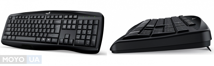 клавиатура Genius KB-128 USB Black Ukr